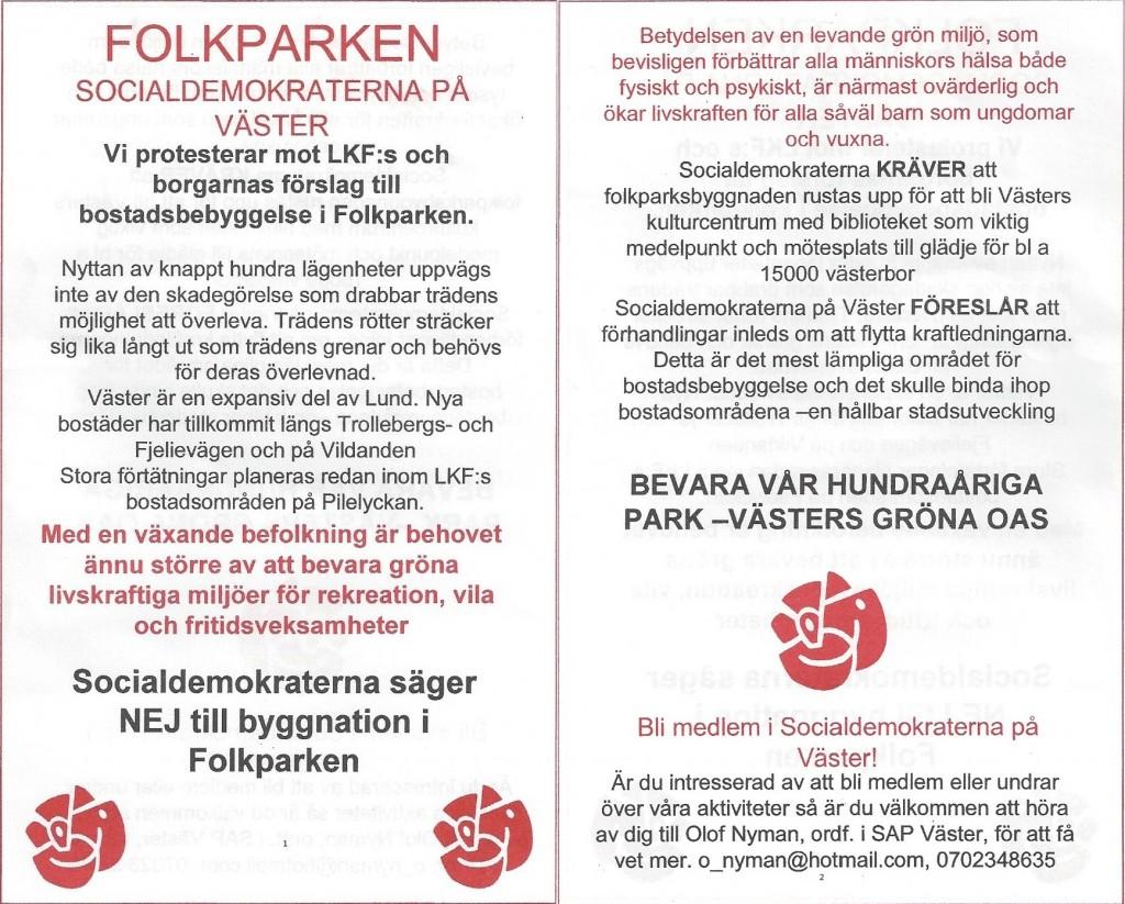 Affisch socialdemokraterna