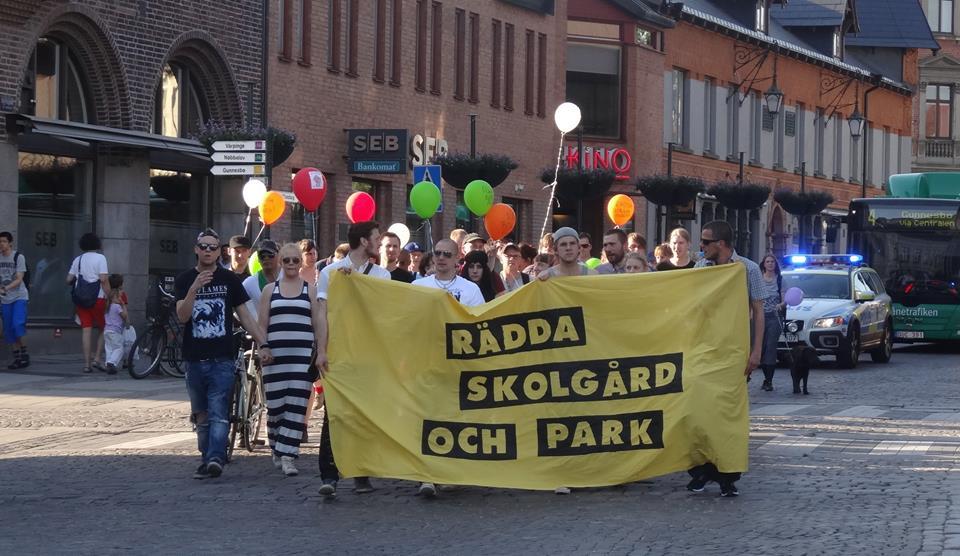 Manifestation Borgarparken